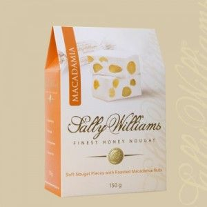 A box of 20 gift bags of Sally Williams Macadamia Nougat. Gourmet nougat from a true culinary genius.