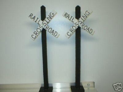 railroad crossing party favors model railroad g scale crossbuck signs set of 2 modeltraintable
