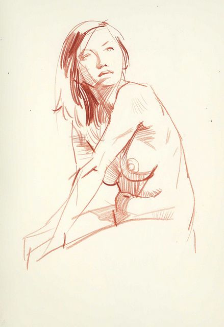 Today's Drawing Class 101: Life Drawing || More figure drawing from David Longo.