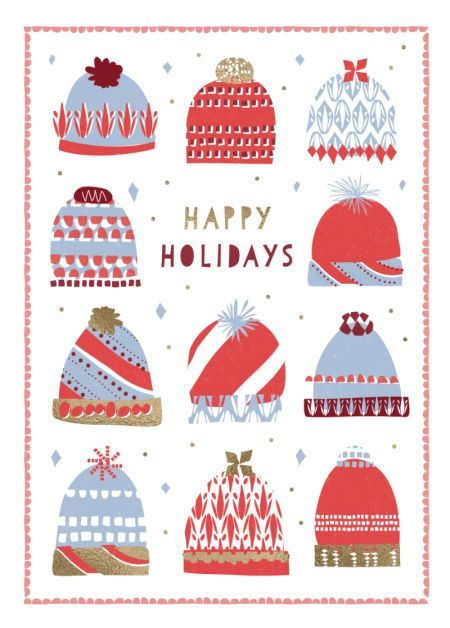 Rebecca Prinn - RP Puzzle Christmas Hats Greeting Card