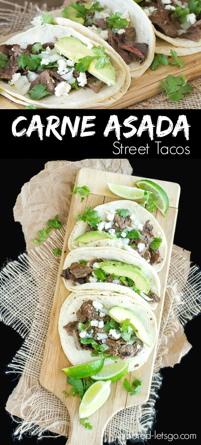 Steak marinated in juice, herbs and spices, then chargrilled to delicious perfection all wrapped up in fresh corn tortillas.  These  carne asada street tacos are fantastic!