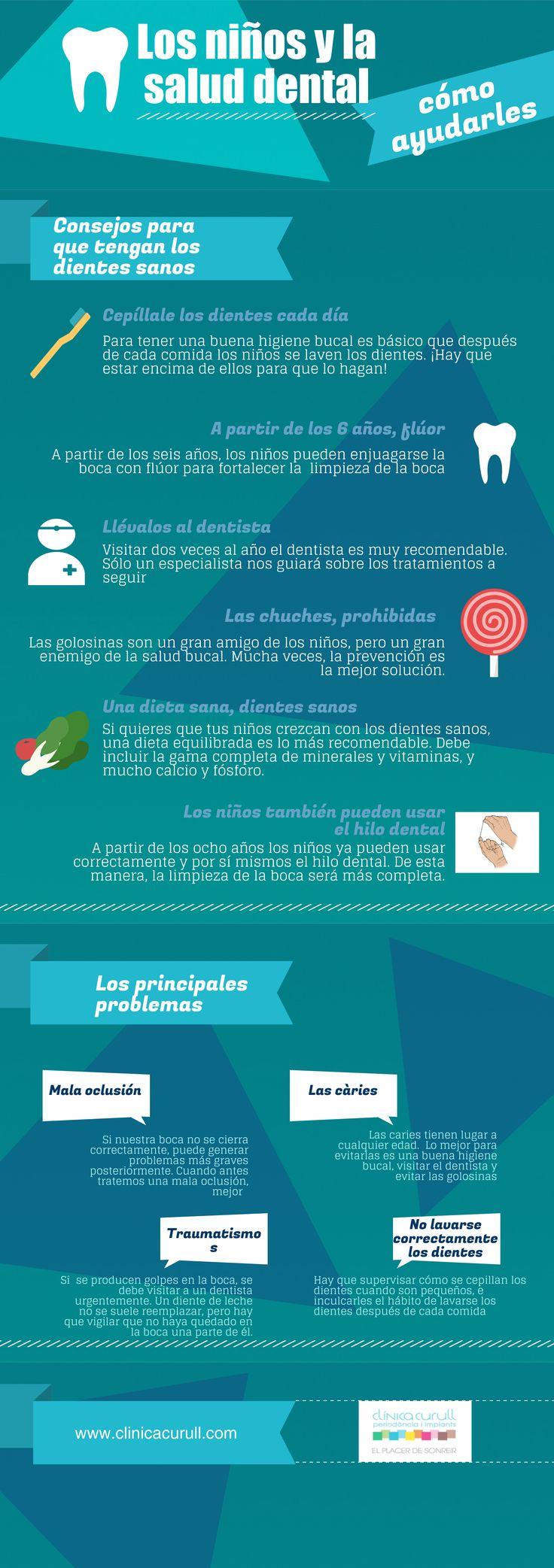 ¿Qué podemos hacer para que nuestros niños adquieran buenos hábitos de salud dental? ¡Os proponemos una serie de consejos! #SaludBucal #EstéticaDental www.clinicacurull.com/