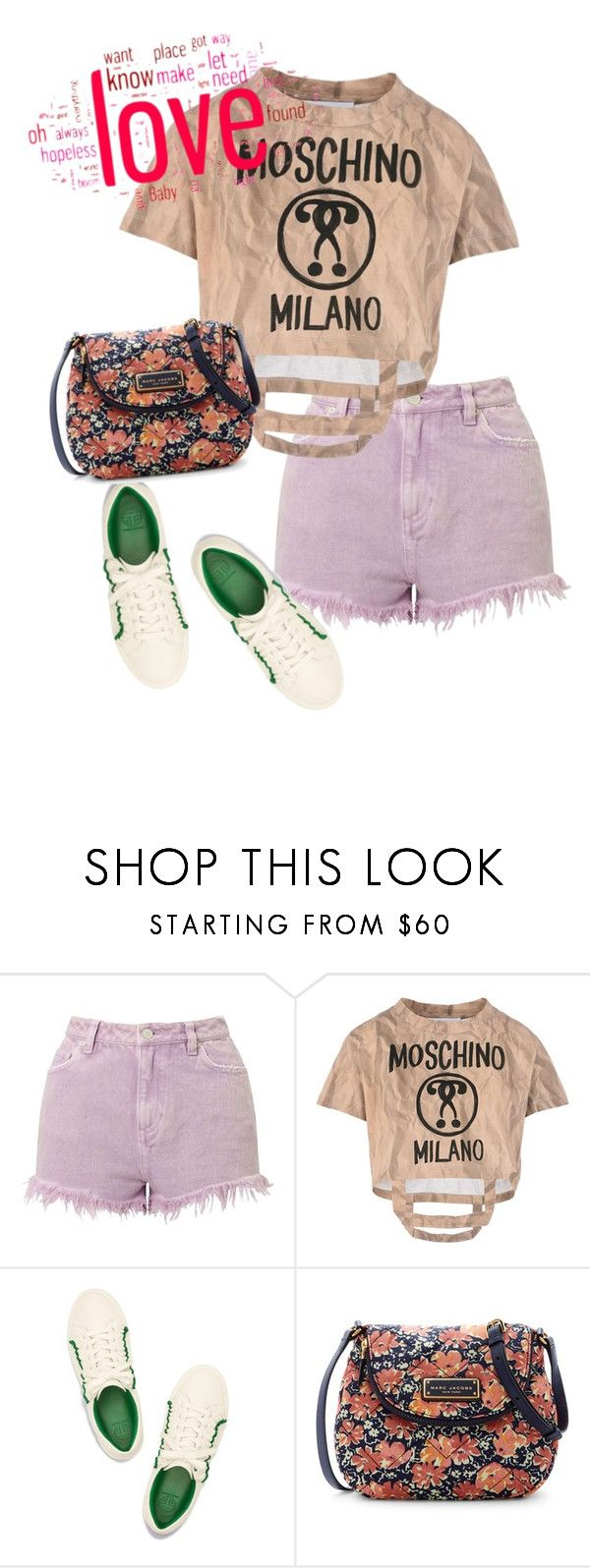 """""""bag"""" by masayuki4499 ❤ liked on Polyvore featuring Miss Selfridge, Moschino and Marc Jacobs"""