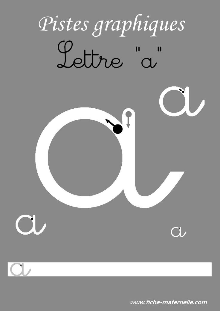 Pistes graphiques les lettres cursives