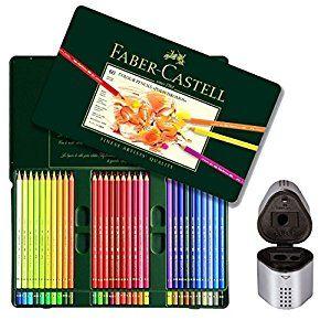 Amazon.com: Faber Castell Premium Polychromos 60 Color Pencil Set and Trio Pencil Sharpener Set: Toys & Games