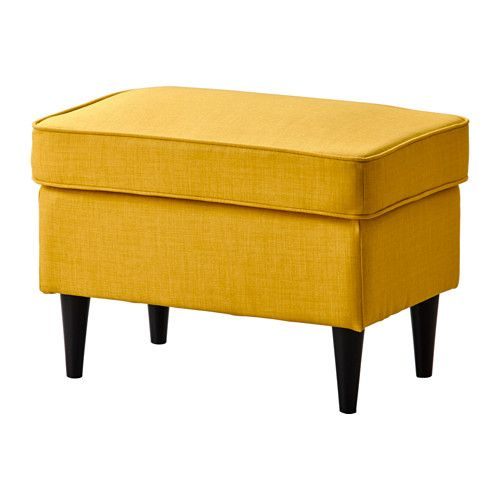 Affordable IKEA finds for easy home decorating ideas at @Stylecaster | Strandmon Ottoman, $89