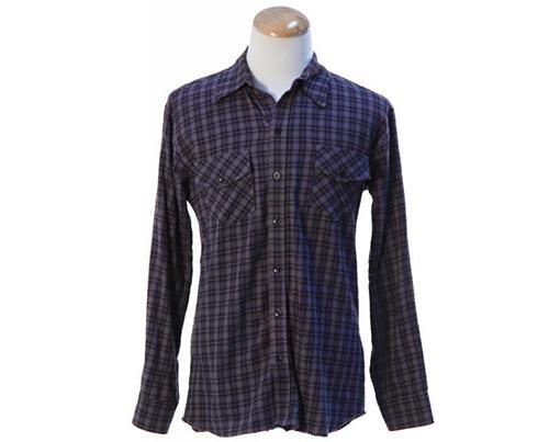 Jax teller s blue black amp grey button down flannel shirt current