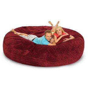 Relax Sack 8 ft. Microsuede Foam Bean Bag Sofa - Bean Bags at Hayneedle