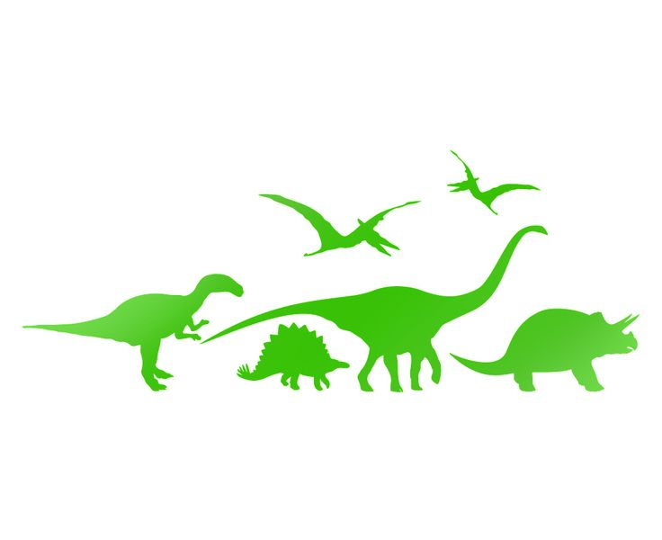 Fancy Dinosaurs Wall Stickers Dino Window Decals