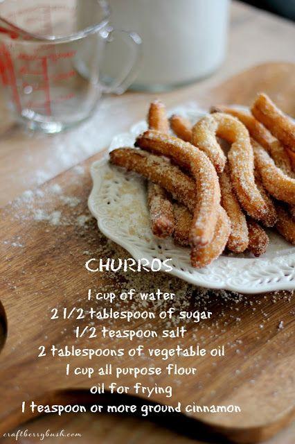 Craftberry Bush: Super quick and delicious Churros