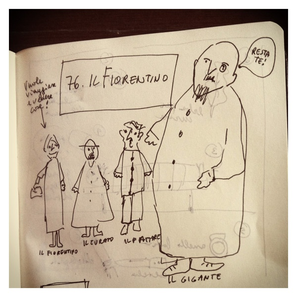 076_Il Fiorentino disegnata da Marco Belpoliti su @ moleskine