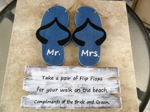 Flip Flop Sign for Beach Wedding by therusticcharmer on Etsy, $27.00
