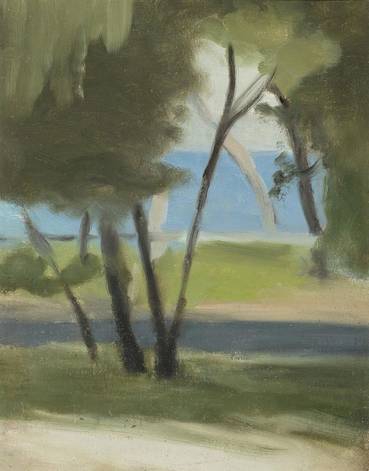 "thunderstruck9: ""Clarice Beckett (Australian, 1887-1935), Beaumaris Foreshore. Oil on board, 37 x 29 cm. """