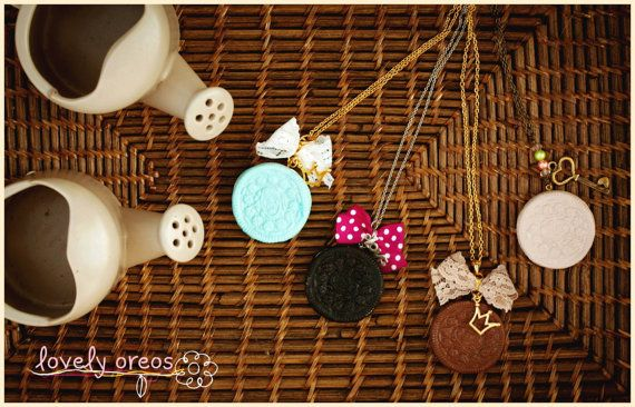 Cute Oreo Pendant / Girly Oreo Necklace / Romantic Oreo by Ilianne, £12.74