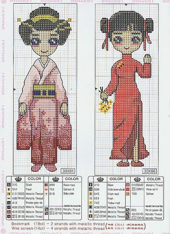 Mejores 59 imágenes de geisha en Pinterest   Patrones de punto de ...