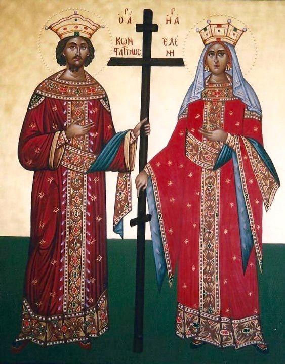 St. Helen & St. Constantine by Eleni Kapetanaki
