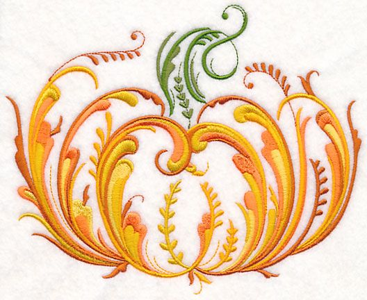 Rosemaling Pumpkin design (M9167) from www.Emblibrary.com