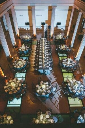 Kings table in middle of floor around the guest tables