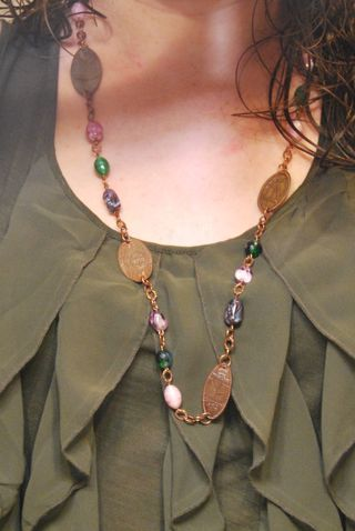 flattened penny necklace