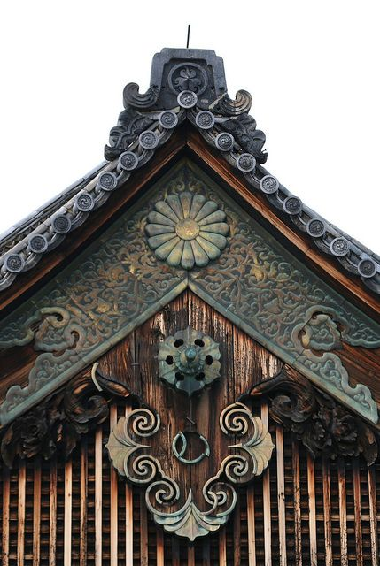 Nijo Castle Roof Detail, Japan