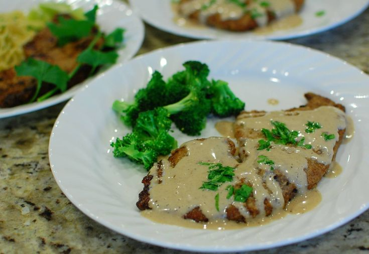 Country Fried Steak with Milk Gravy (a.k.a. Chicken Fried Steak) - with instructions for an easy variation to make Italian Steak Milanesa with Piccata sauce. Yum!