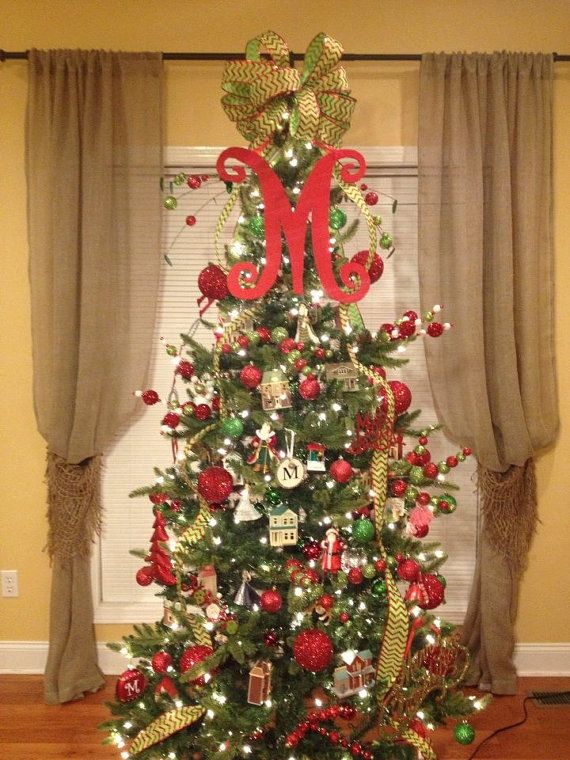 Letters To Hang On Front Door Part - 48: Christmas Tree Letter, Front Door Letter, Letter For Wreath, Initial,  Signage