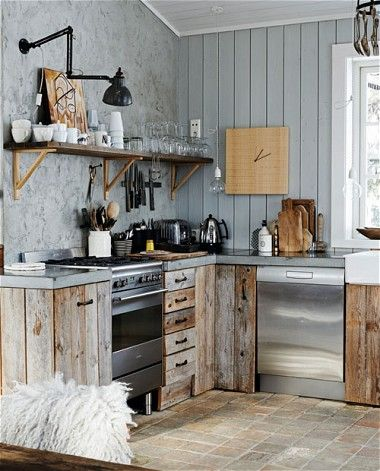 95 best Rustic style images on Pinterest Kitchen, Home and Live - rustic modern kitchen