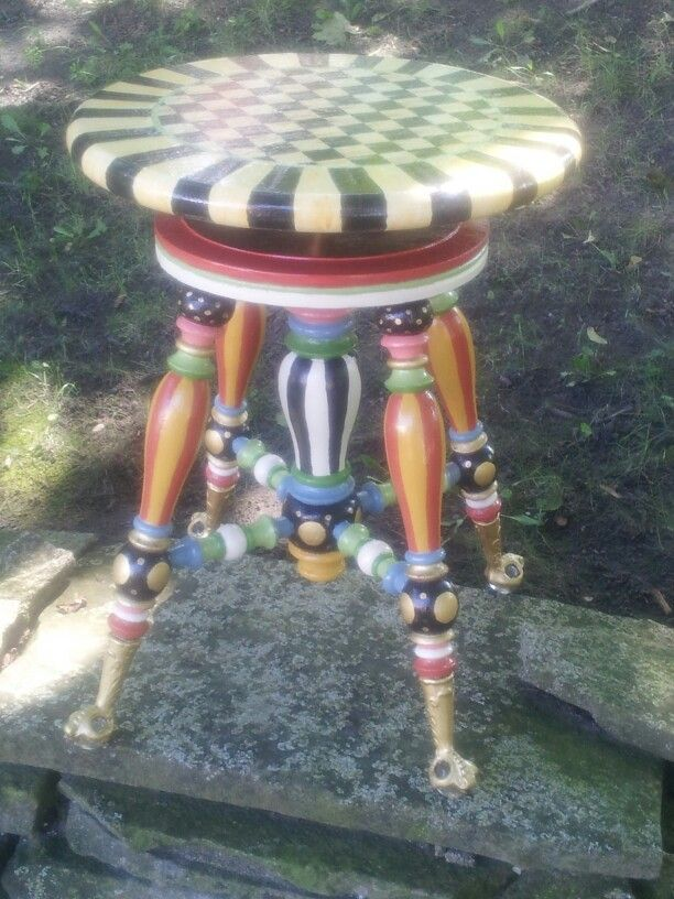 Old fashion piano stool.