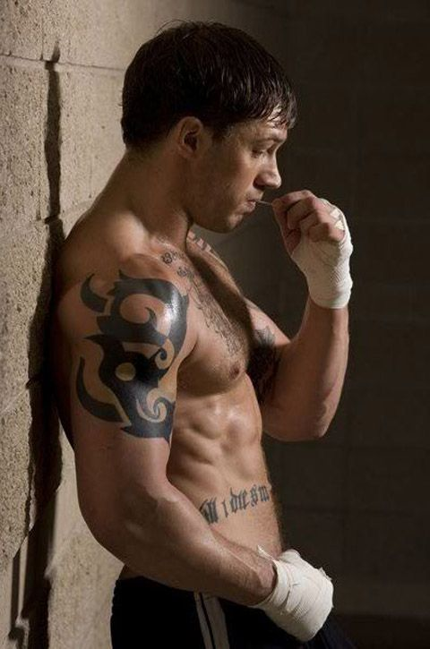 Tom Hardy/Warrior... if you haven't seen it, stop what you are doing and watch it!