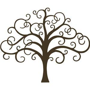 Silhouette Design Store - View Design #6981: scroll tree