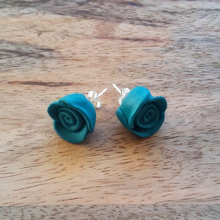 Fimo Flower Earrings by JdwCrafts on Etsy