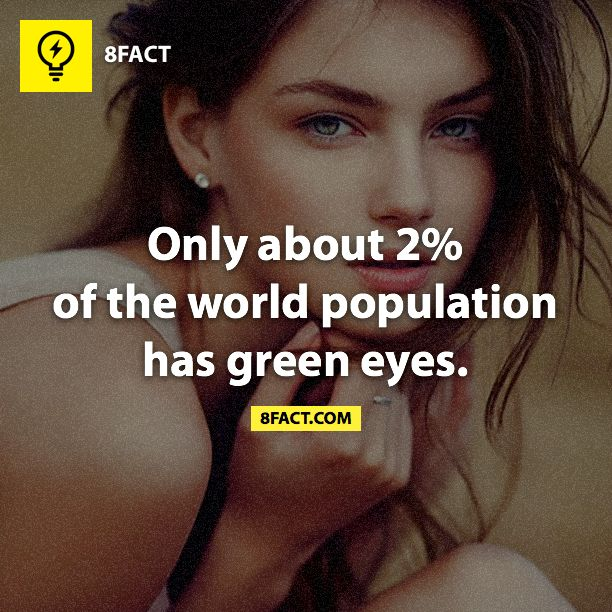 2% of the world have green eyes
