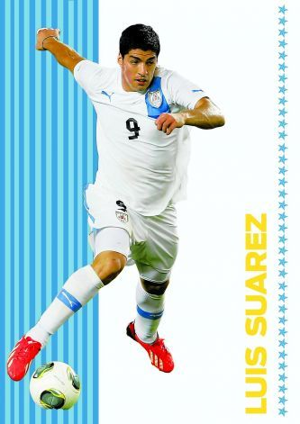 """Luis Suarez: Uruguay The player many love to hate. Famous for biting opponents and fooling referees with his diving and shenanigans. For him, the means justify the end; winning comes above everything. As a striker, mark """"special"""" on his card. Skills are laser sharp, a thorn in every defender's side. Photo: Luis Rendon, The Chronicle"""