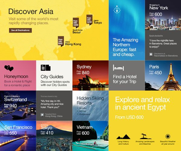 The Future of Airline Websites - Web Design and User Experience Case Study by Fi - Scroll Down Destinations