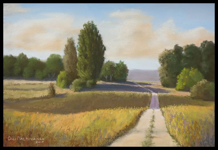 Dirt Road Soft pastel on Mi-Teintes Touch paper 26 x 38 cm
