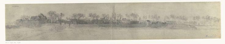 frères Moreau   Gezicht op Vorden, 1672, frères Moreau, Adam Frans van der Meulen, 1900 - 1903   Foto van een tekening met een panoramisch gezicht op Vorden, ingenomen door het Franse leger in juni 1672. Onderdeel van een serie foto's van tekeningen van veroverde steden tijdens de Franse inval in de Nederlanden in 1672.