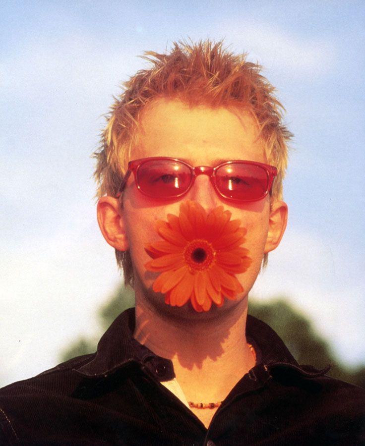 Thom Yorke, random Radiohead book from 1995.