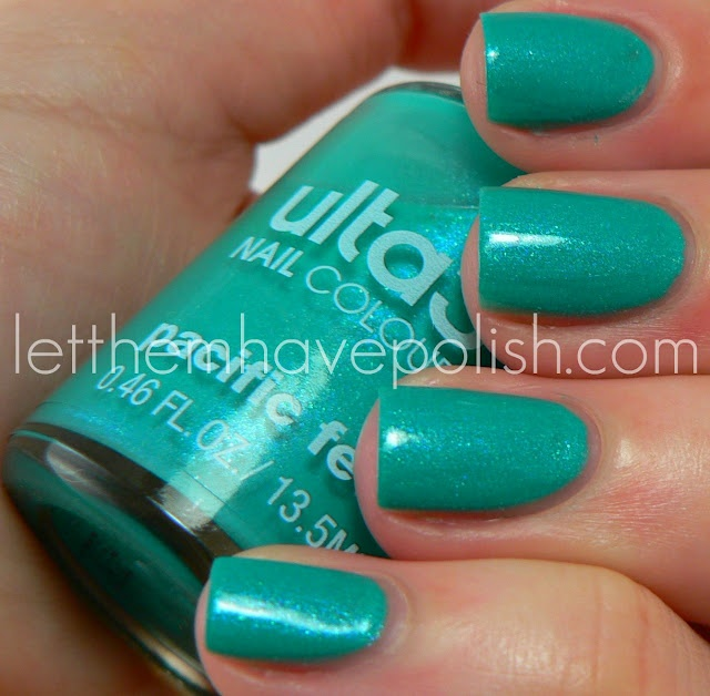 Now that's a turquoise nail polish!