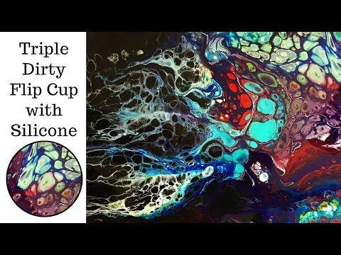 Swipe & Abstract Technique | How to paint Peacock feathers | Acrylic Pour | Fluid Art | Jasvir Kambo - YouTube