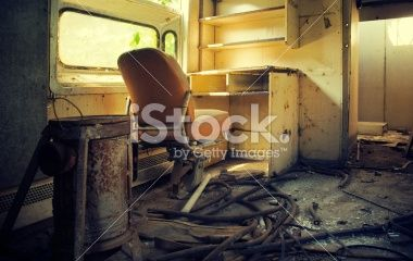 Abandoned train wagon Royalty Free Stock Photo
