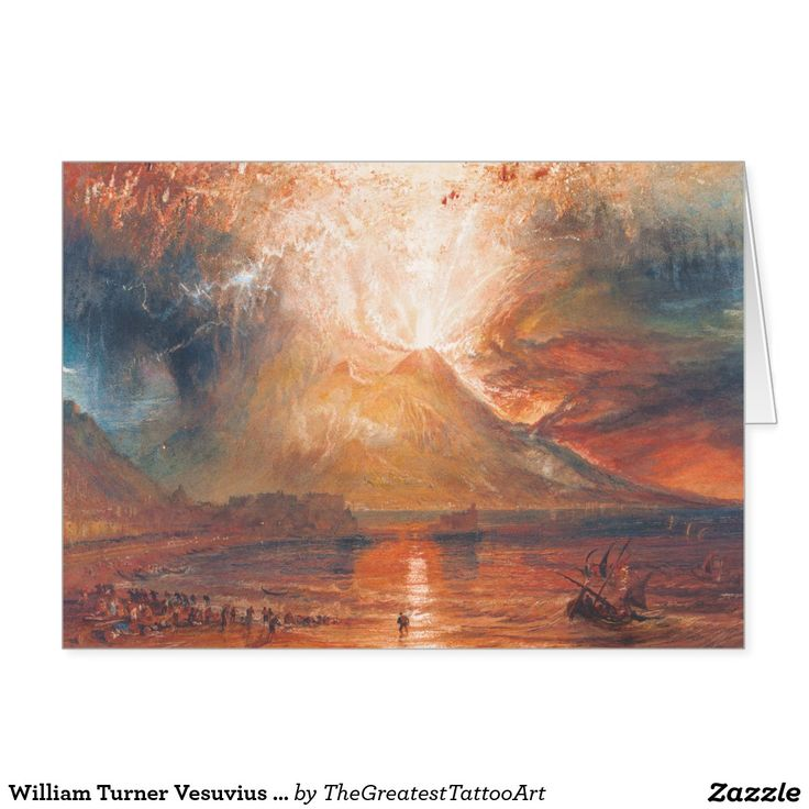 William Turner Vesuvius in Eruption waterscape art Card