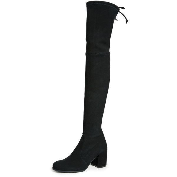 Stuart Weitzman Tieland Over the Knee Boots (45.250 RUB) ❤ liked on Polyvore featuring shoes, boots, black, thigh-high boots, over the knee leather boots, black boots, over knee stretch boots and black stretch boots #stuartweitzmantieland #stuartweitzmanboots #stretchingshoes