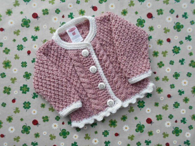 Cardigan For Girls From Size 62 68 To Size 92 98 Sweater With Plait Pattern Baby Jacket Knitted Gift For Birth Baptism Tupwear Strickjacke Madchen Madchen Pullover Trachtenjacke Stricken Kinder
