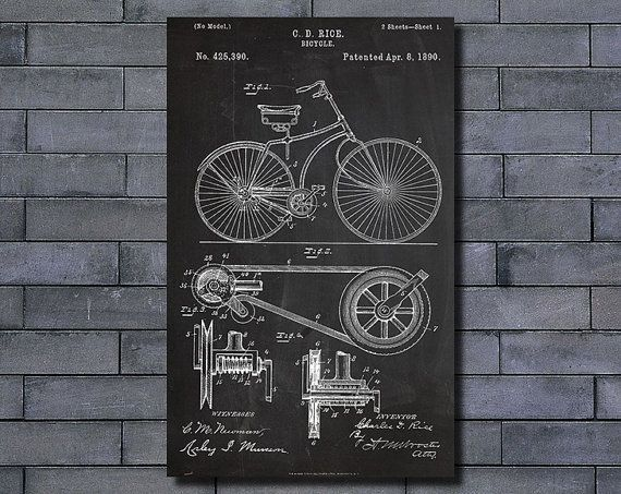 198 best diy blueprint art images on pinterest hand guns bigycle patent poster art print home decor blueprint wall art poster illustration canvas art prints wall malvernweather Gallery