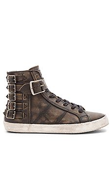 Frye Dylan Belted High Top Sneaker in Black