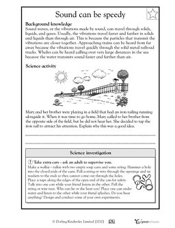 How sound travels (With images) | Science worksheets, 5th ...