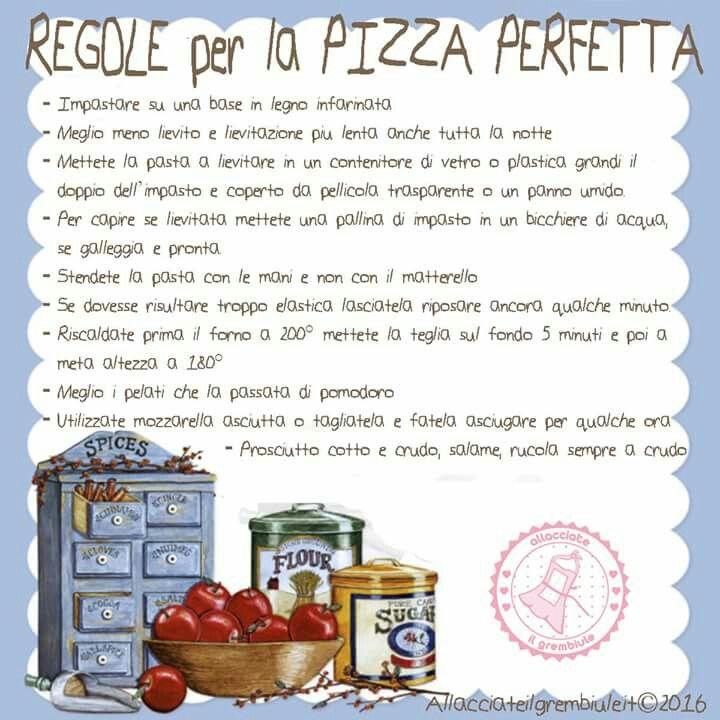 Regole per pizza perfetta