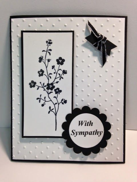 Morning Meadow  Sympathy Card Stampin' Up! Rubber Stamping Handmade Cards