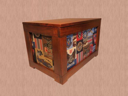 Toy Box-Air Service by Kelsey's Collection. $99.99. easy assembly in 10 minutes. solid pine frame construction. measures 18x12x12. Solid pine construction, easy assembly (10 minutes), with images on all four sides.  Measures 18x12x12 - weighs 8.5 pounds.  If you are looking for a big toy box, this isn't it, but if you want something very adorable and one that your kids can drag around the room and put some of their toys on, then put it back, then this is what you are looking...