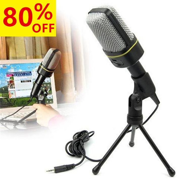 Handheld Condenser Microphone Studio Professional Wired Microphone Holder Clip Mini Desktop Stand Microphone for Computer PC #Affiliate